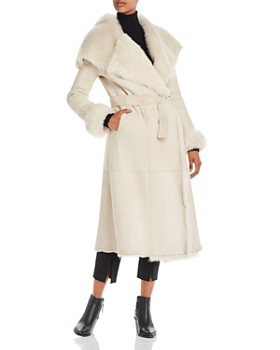 Herno - Belted Long Shearling Coat