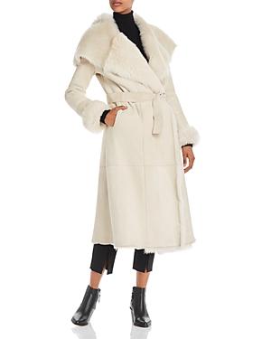 Herno Belted Long Shearling Coat-Women