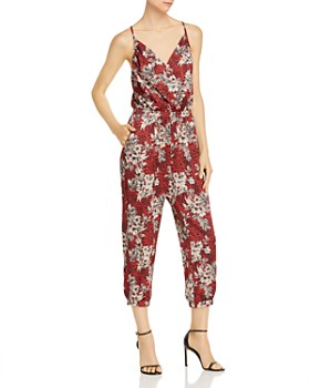 Amanda Uprichard - Leah Cropped Printed Jumpsuit
