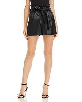 Amanda Uprichard - Tessi Faux-Leather Shorts - 100% Exclusive