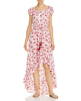 Tiare Hawaii - Riviera Botanical-Print Button-Front Maxi Dress