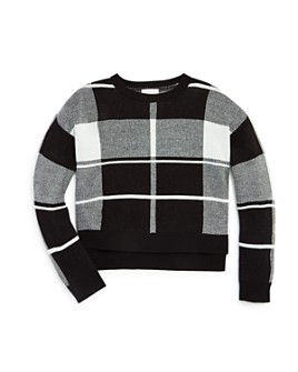 Design History - Girls' Plaid Sweater - Big Kid