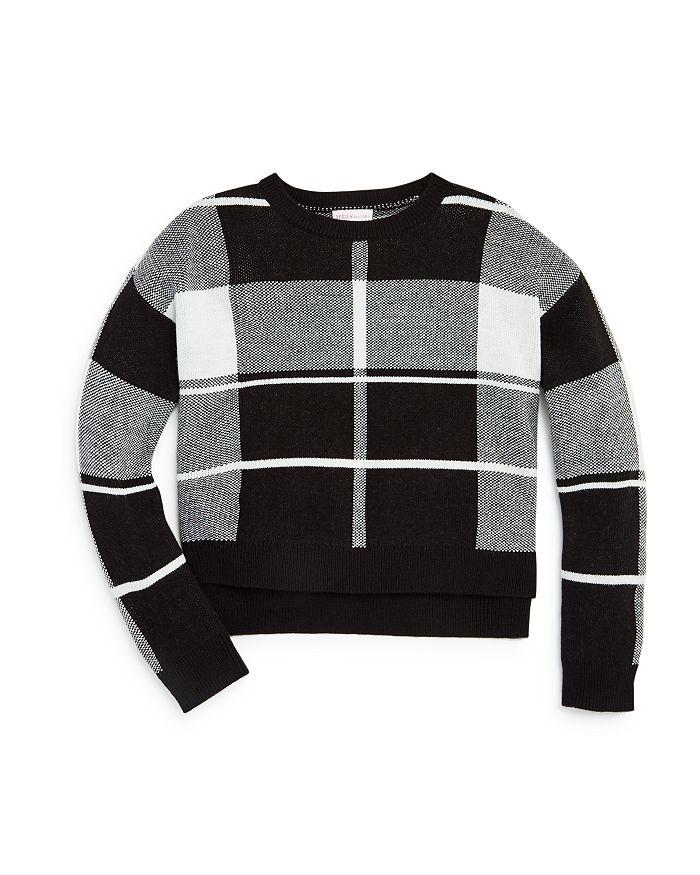 Design History - Girls' Plaid Sweater - Big Kid