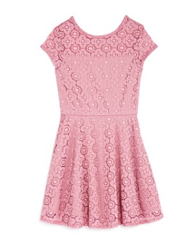 AQUA - Girls' Floral Lace Dress, Big Kid - 100% Exclusive