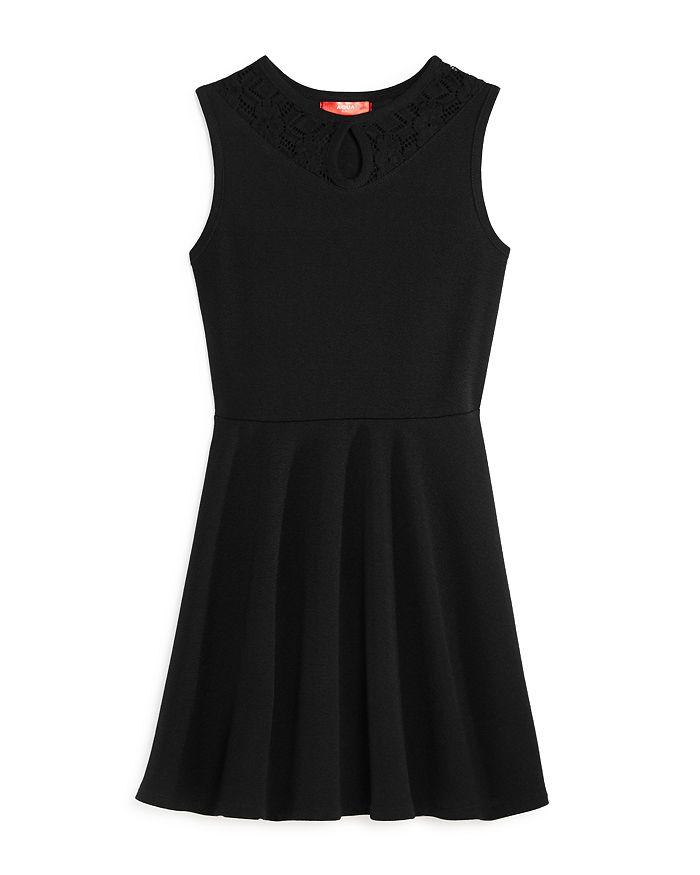 AQUA - Girls' Lace Keyhole Dress, Big Kid - 100% Exclusive
