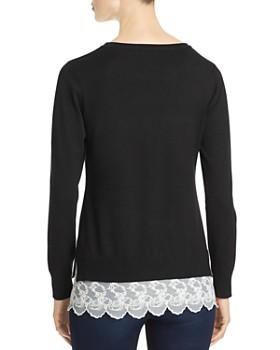 Sioni - Lace-Hem Sweater