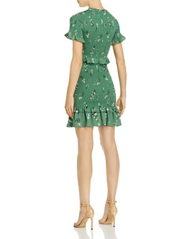 LIKELY - Faye Smocked Ruffled Floral Mini Dress
