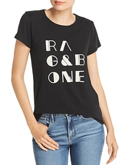 rag & bone - Vintage Flocked Logo Tee