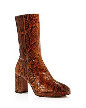 Miista - Women's Carlota Snake-Print Boots