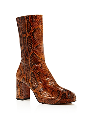 Miista Boots WOMEN'S CARLOTA SNAKE-PRINT BOOTS