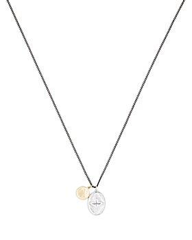 MIANSAI - Mini Dove Sterling Silver & 18K Yellow Gold Pendant Necklace