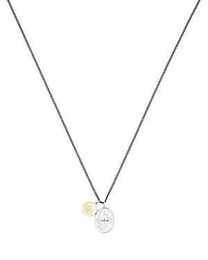 Mini Dove Sterling Silver & 18K Yellow Gold Pendant Necklace