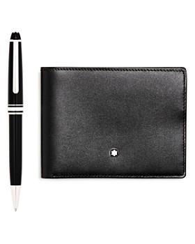 Montblanc - Meisterstück Platinum-Plated Classique Ballpoint Pen & Leather Bi-Fold Wallet