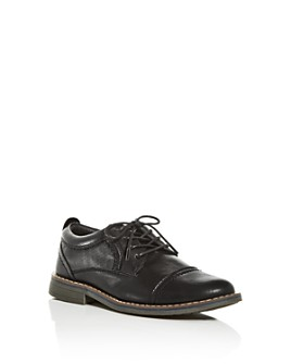 STEVE MADDEN - Boys' Boliverr Leather Cap-Toe Oxfords - Little Kid, Big Kid