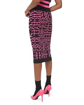 MICHAEL Michael Kors - Newsprint Logo Pencil Skirt