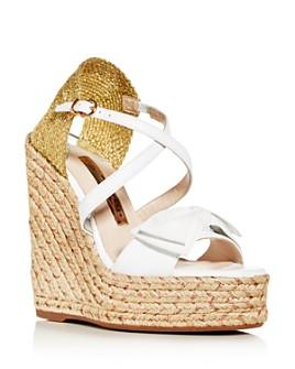 Sophia Webster - Bonnie 140 Platform Wedge Espadrille Sandals