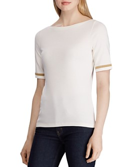 Ralph Lauren - Metallic-Trim Tee