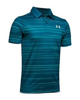 Under Armour - Boys' Tour Tips Striped Polo Shirt - Big Kid