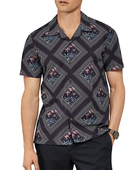 Ted Baker - Brayden Tile Print Slim Fit Shirt