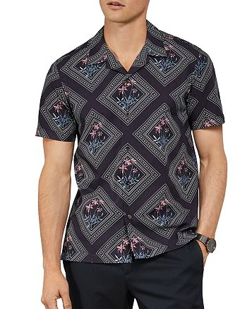 Ted Baker - Brayden Tile Print Slim Fit Shirt