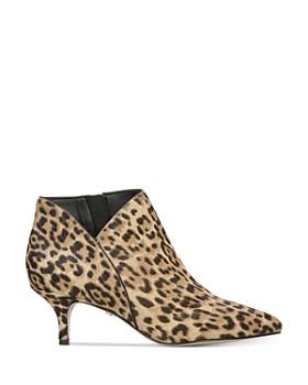 Sam Edelman - Women's Kadison Leopard-Print Kitten Heel Booties