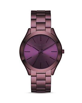 Michael Kors - Slim Runway Purple Link Bracelet Watch, 42mm