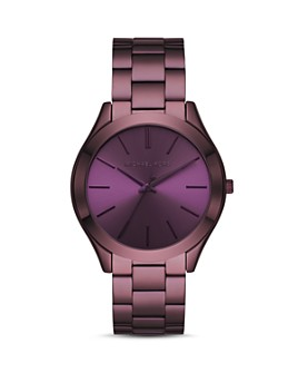 Michael Kors - Slim Runway Purple Link Bracelet Watch, 42mm