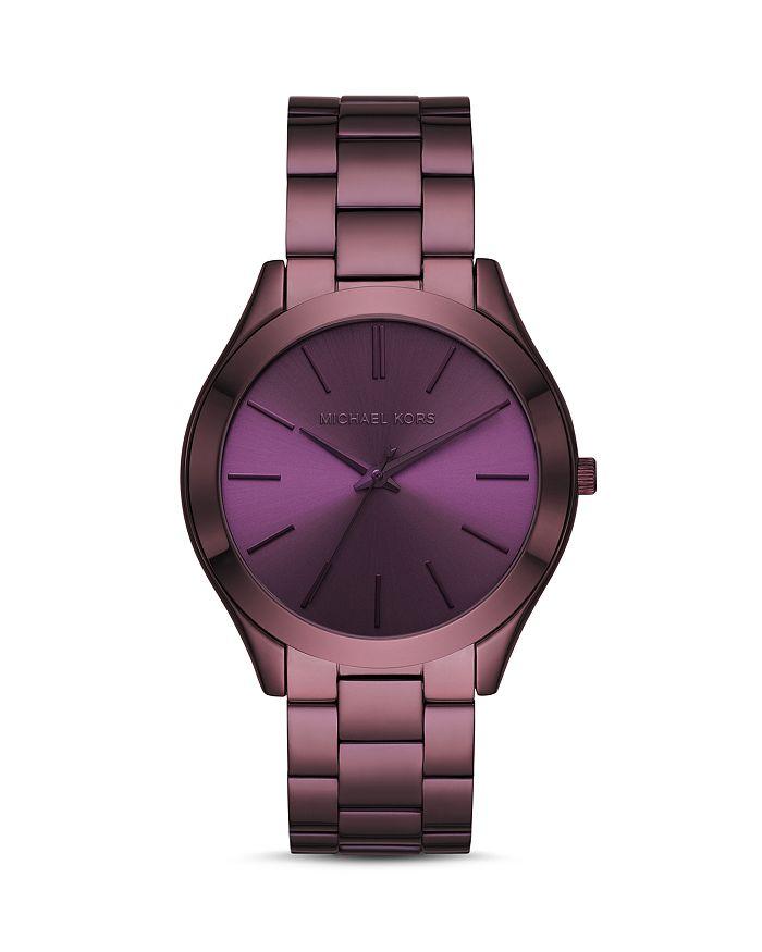 Slim Runway Purple Link Bracelet Watch 42mm