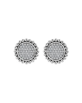 LAGOS - Sterling Silver Caviar Spark Diamond Clip-On Stud Earrings