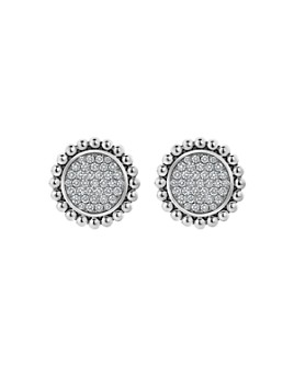 LAGOS - Sterling Silver & 14K Yellow Gold Caviar Spark Diamond Clip-On Stud Earrings