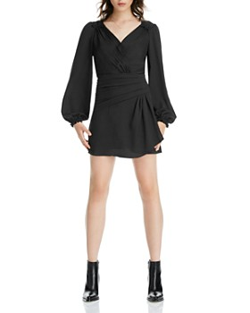 LINI - Mia Blouson-Sleeve Mini Dress - 100% Exclusive