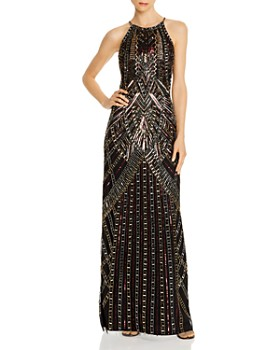 Aidan Mattox - Beaded Halter Gown