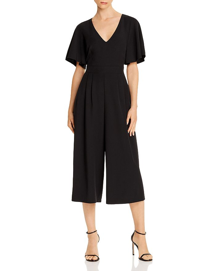 Eliza J - V-Neck Cropped Jumpsuit
