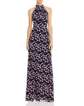 Keepsake - Charmed Floral Halter Gown