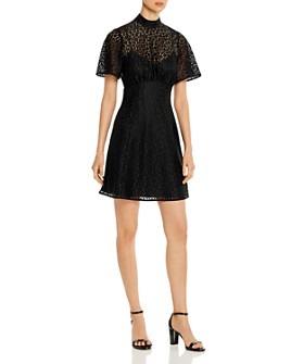 kate spade new york - Short-Sleeve Leopard-Lace Dress