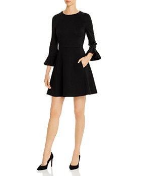 kate spade new york - Bell-Sleeve Ponte Dress