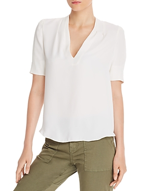Joie Shorts ANCE SHORT-SLEEVE HIGH/LOW TOP