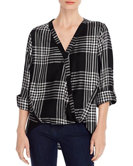 Single Thread - Plaid Crossover Top