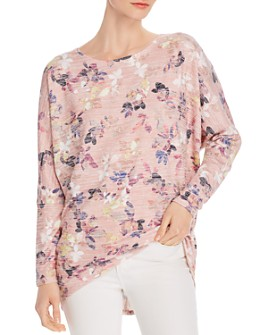 Cupio - Floral-Print Dolman-Sleeve Top