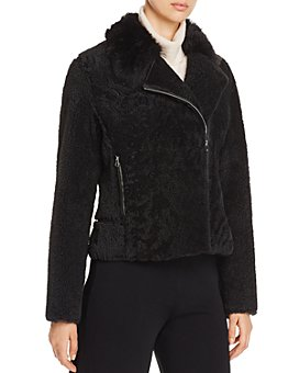 Yves Salomon - Lamb Shearling Short Moto Jacket