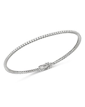 Bloomingdale's - Diamond Delicate Stackable Tennis Bracelet in 14K White Gold, 1.0 ct. t.w. - 100% Exclusive