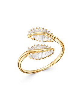 Bloomingdale's - Baguette Diamond Feather Ring in 14K Yellow Gold, 0.45 ct. t.w. - 100% Exclusive