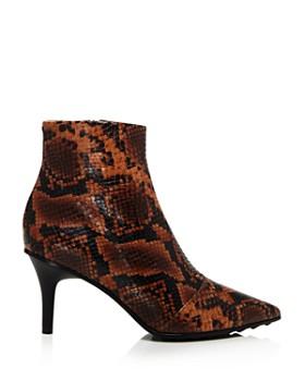 rag & bone - Women's Beha Snake-Print Moto Ankle Booties