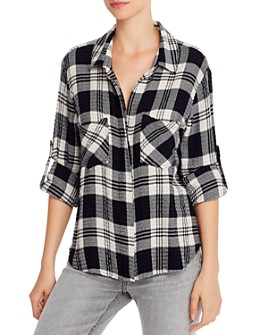 Bella Dahl - Split-Back Plaid Shirt