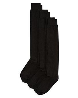 HUE - Flat Knit Knee Socks, Set of 3