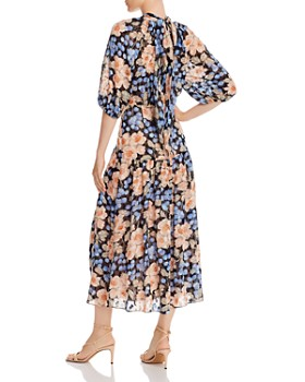 Rebecca Taylor - Rose-Print Silk-Blend Dress
