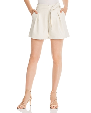 Lucy Paris Pleated Faux Leather Shorts - 100% Exclusive