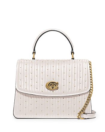 COACH - Parker Quilted Studded Satchel