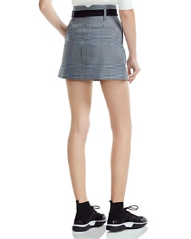 cc12fd0a0e2d ... Maje - Jadie Pleated Prince of Wales Mini Skirt