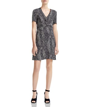 Maje - Ripi Twist-Detail Animal-Print Mini Dress